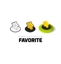 Favorite icon in different style vector image