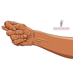 Fig fico hand sign African ethnicity detailed vector image vector image