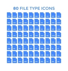 File Type Icons vector image vector image