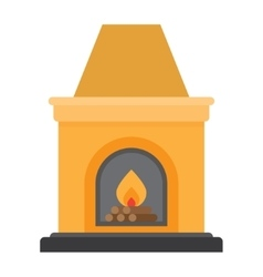 Fireplace flame bright vector