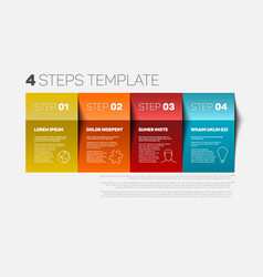 Four steps template vector