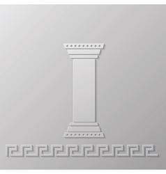 greek column vector image