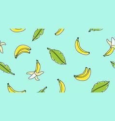 hand drawn bananas vector image vector image