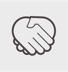hand shake gesture vector image vector image