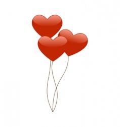 heart balloons vector image vector image