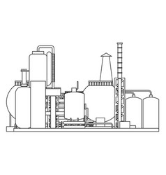 industry factory building vector image