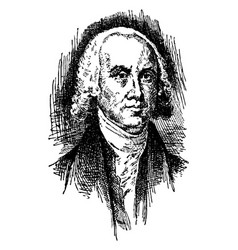 james madison vintage vector image