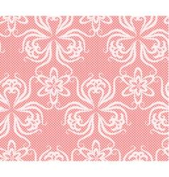 Lace flower elegant pink net vector