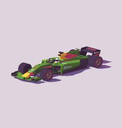 Low poly formula racing car vector