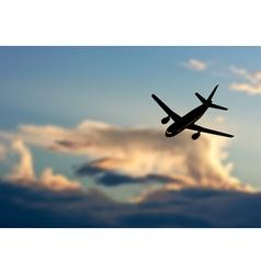 Plane in Sky vector image