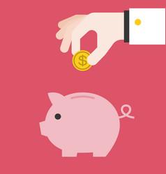 save money piggy bank vector image vector image