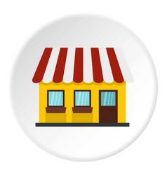 shop icon circle vector image