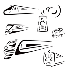 Train symbols vector image