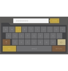 Trendy mobile keyboard vector