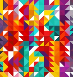 Triangle geometric shapes Seamless Pattern vector image vector image