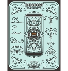 Vintage Ornaments Decorations Design Elements vector image