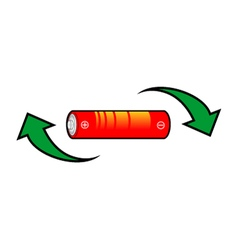 Recycle battery symbol vector