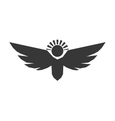 Angel silhouette fairy wing heaven icon vector