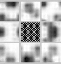 Black and white vertical rhombus pattern set vector image