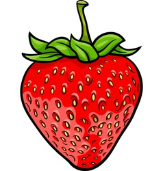 Strawberry fruit cartoon vector