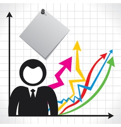 Businessmen and background with market graph vector