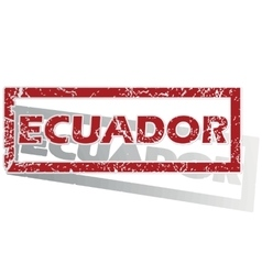 Ecuador outlined stamp vector