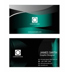 Professional and designer business card set or vis vector