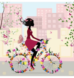 Bicycle in the city vector