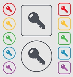 Key sign icon unlock tool symbol symbols on the vector