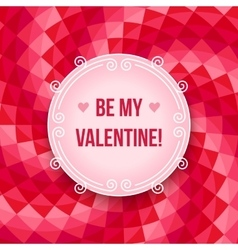 Valentines day party poster design template vector