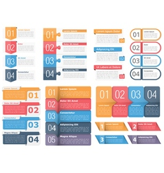 Design elements with numbers and text vector