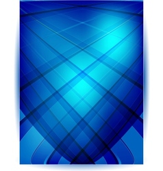 Straight lines abstract background Blue vector image