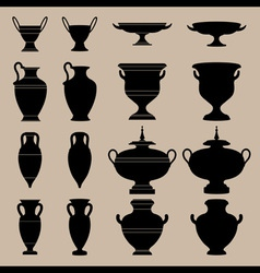antique vase vector image