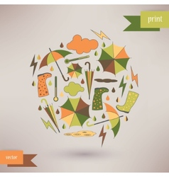 Autumn abstract background simple shapes and vector