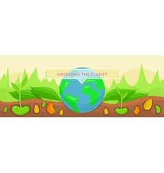 Bannner Concept Ecology Greening Planet vector image
