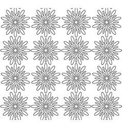 Black and white abstract flowers lace print vector image