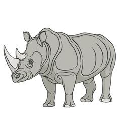 color rhinoceros vector image vector image