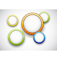 Colorful background with glossy circles vector image