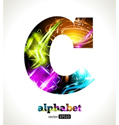 Design abstract letter c vector