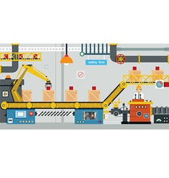 factory industry vector image