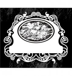 floral grunge frame vector image vector image