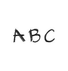 hand drawn chalk abc vector image vector image