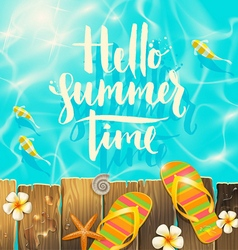 Hello summer time vector image