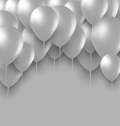 Holiday Background with White Balloons vector image vector image