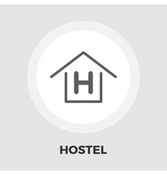 Hostel flat icon vector image vector image