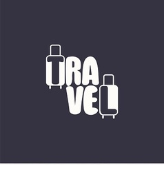 logo with word travel and suitcases vector image vector image