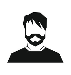 Man silhouette avatar on white background vector