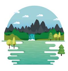 mountains landscape design vector image vector image