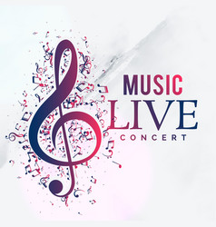 Music live concert poster flyer template design vector