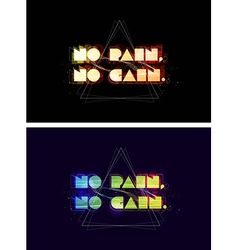 No pain no gain typography vector image vector image